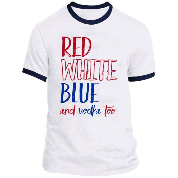 Red White Blue Vodka Ringer Tee