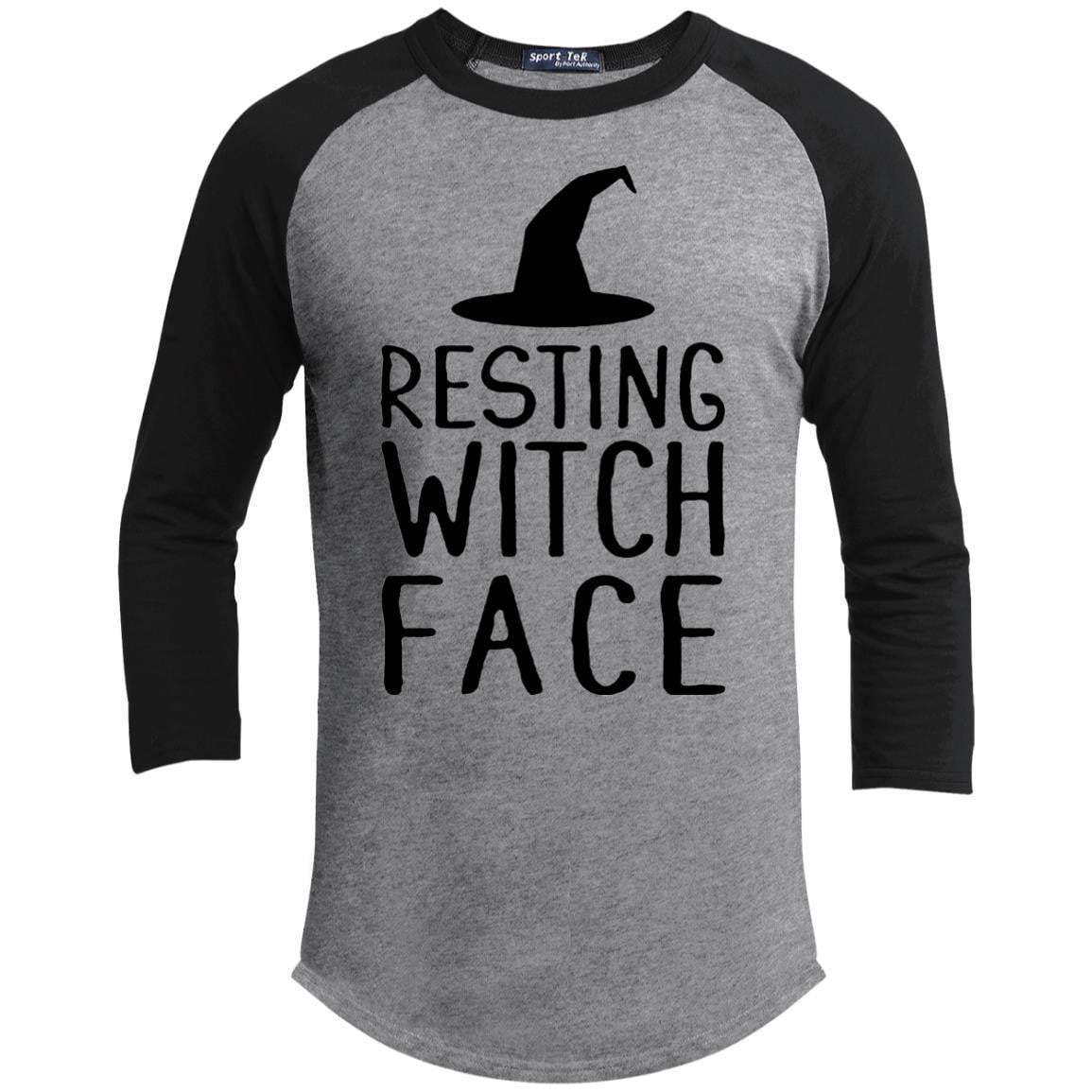 RESTING WITCH FACE Unisex 3/4 Sleeve Raglan
