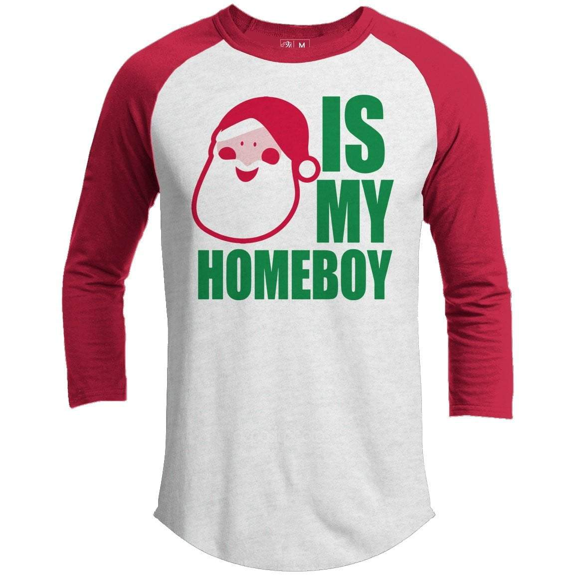 SANTA HOMEBOY Premium Youth Christmas Raglan