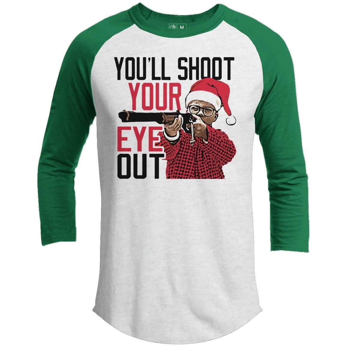 Shoot Your Eye Out Ralphie Premium Christmas Raglan