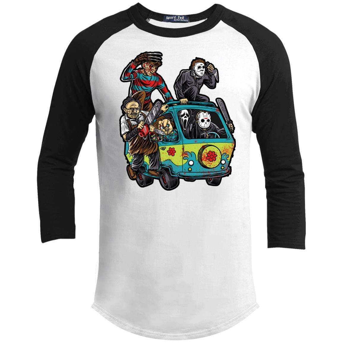 THE MASSACRE MACHINE Unisex 3/4 Sleeve Raglan
