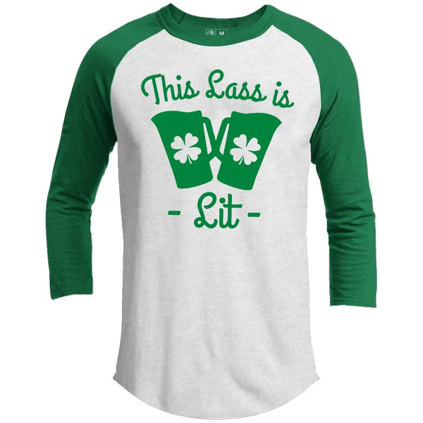 This Lass Is Lit St. Patrick's Day Raglan