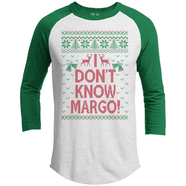 Todd And Margo Don't Know Premium Christmas Raglan