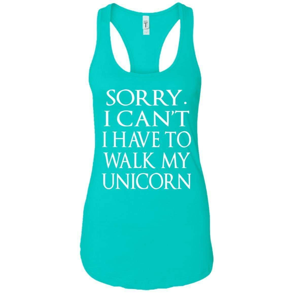 Walk My Unicorn Women's Racerback Tank