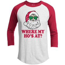 T-Shirts - Where's My Ho's Premium Christmas Raglan