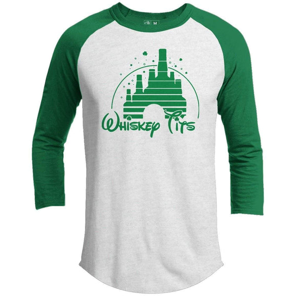 Whiskey Tits St. Patrick's Day Raglan