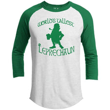 T-Shirts - World's Tallest Leprechaun St. Patrick's Day Raglan
