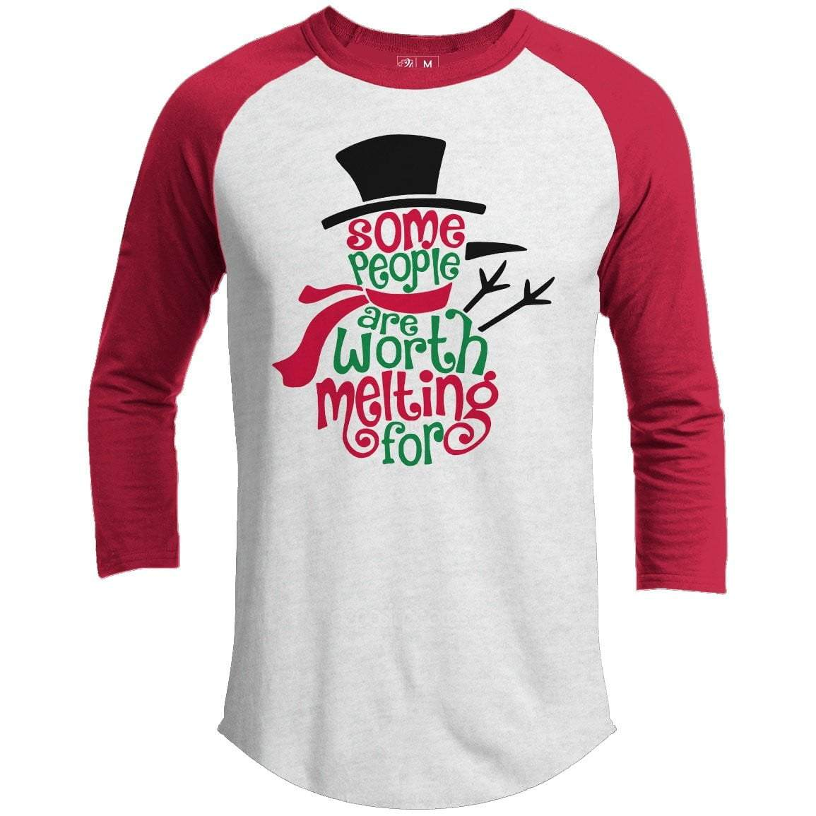 WORTH MELTING FOR Premium Youth Christmas Raglan