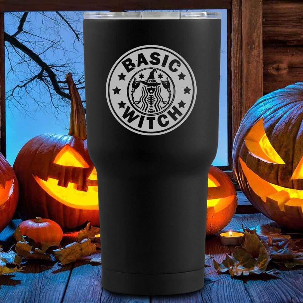 Basic Witch Halloween Tumblers + Wine Glass