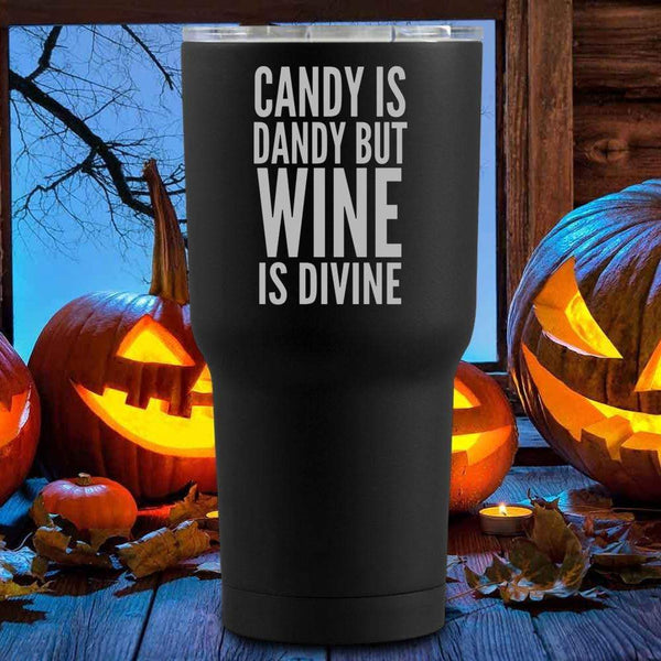 Candy Is Dandy Halloween Tumblers + Wine Glass