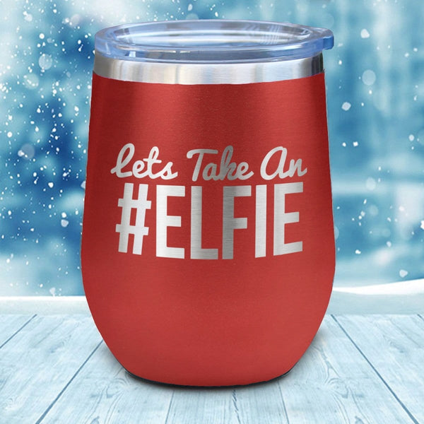 #Elfie Christmas Wine Glass