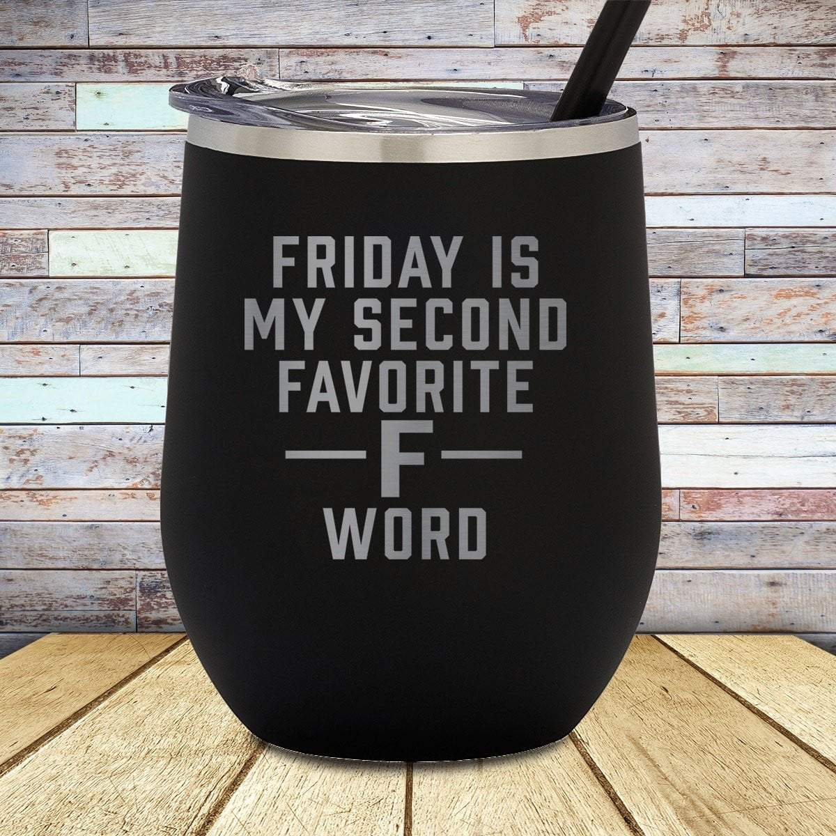 F Word Stemless Wine Cup