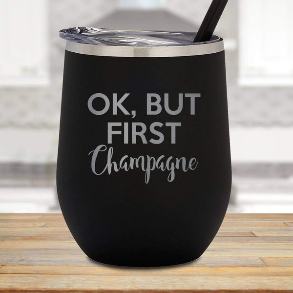First Champagne Stemless Wine Cup