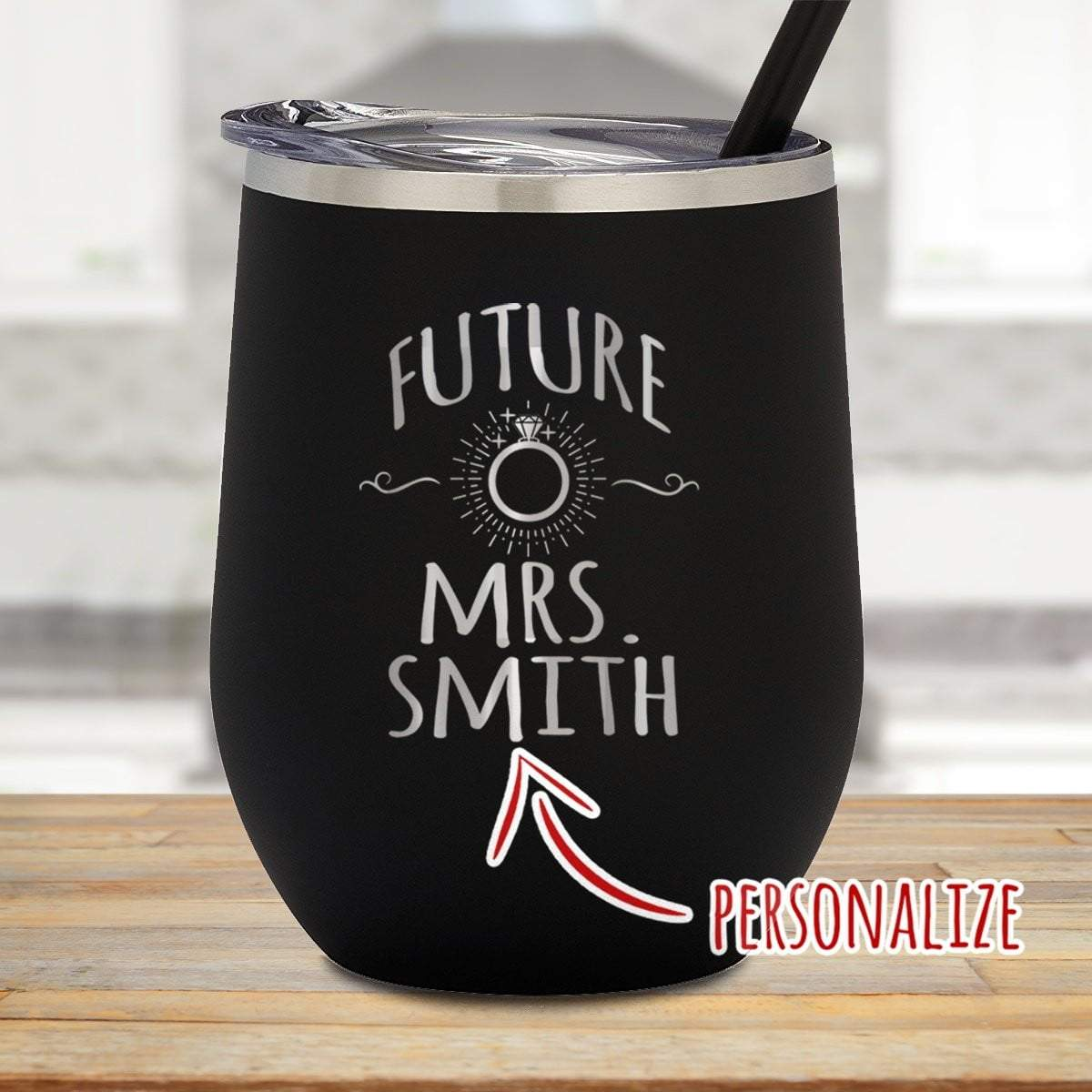 Future Mrs. Personalized Stemless Wine Glass