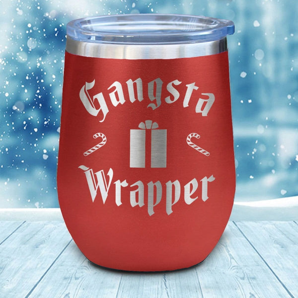 Gangsta Wrapper Christmas Christmas Wine Glass