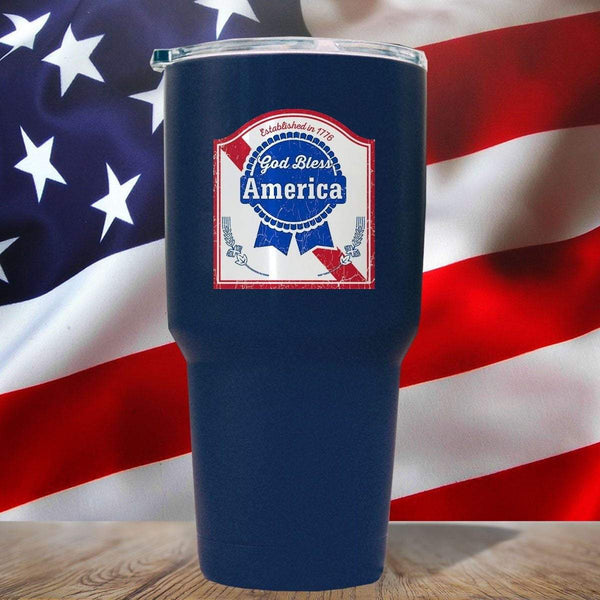 GOD BLESS AMERICA 3D UV Tumbler