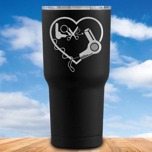 Hairstylist Heart Tumbler