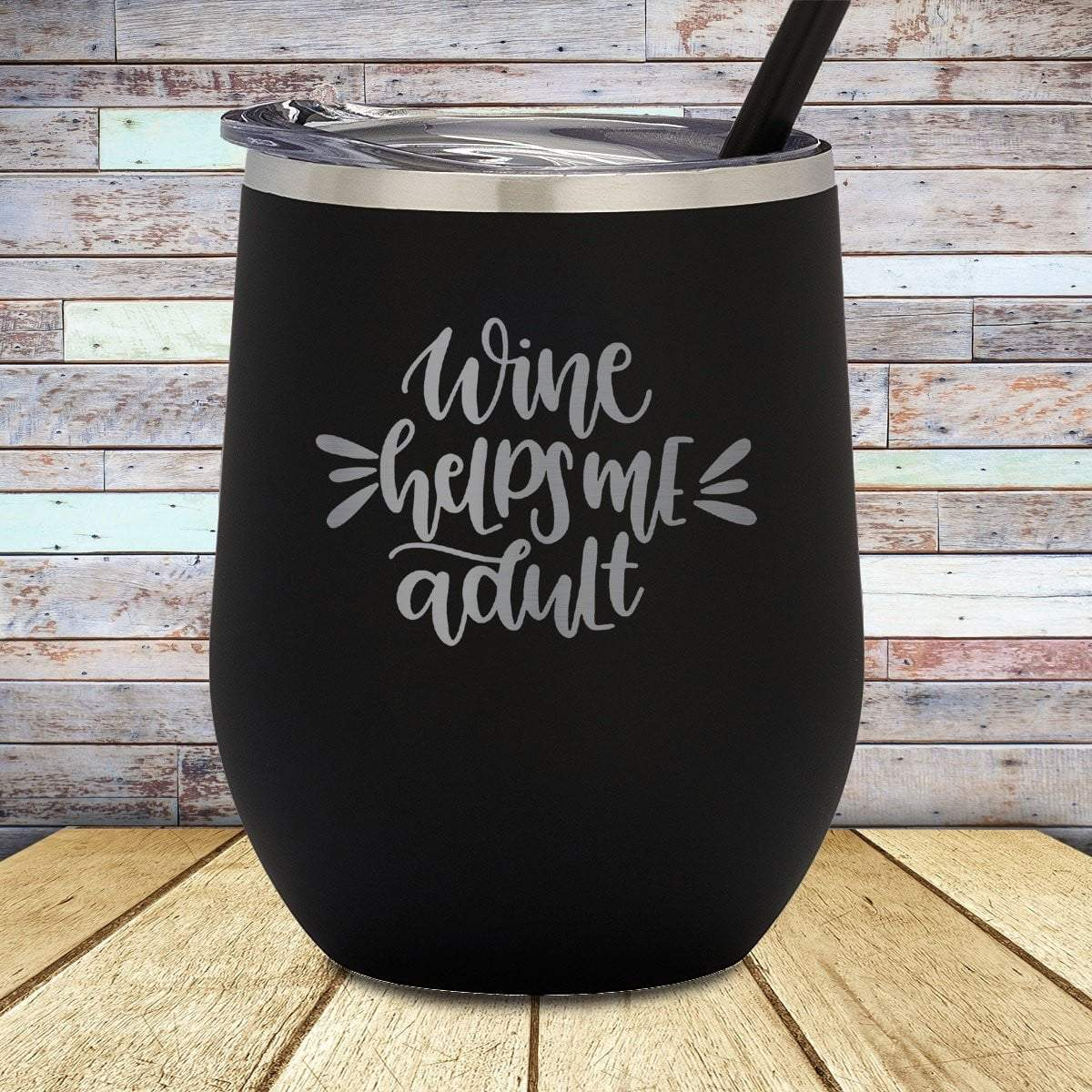 Helps Me Adult Stemless Wine Cup