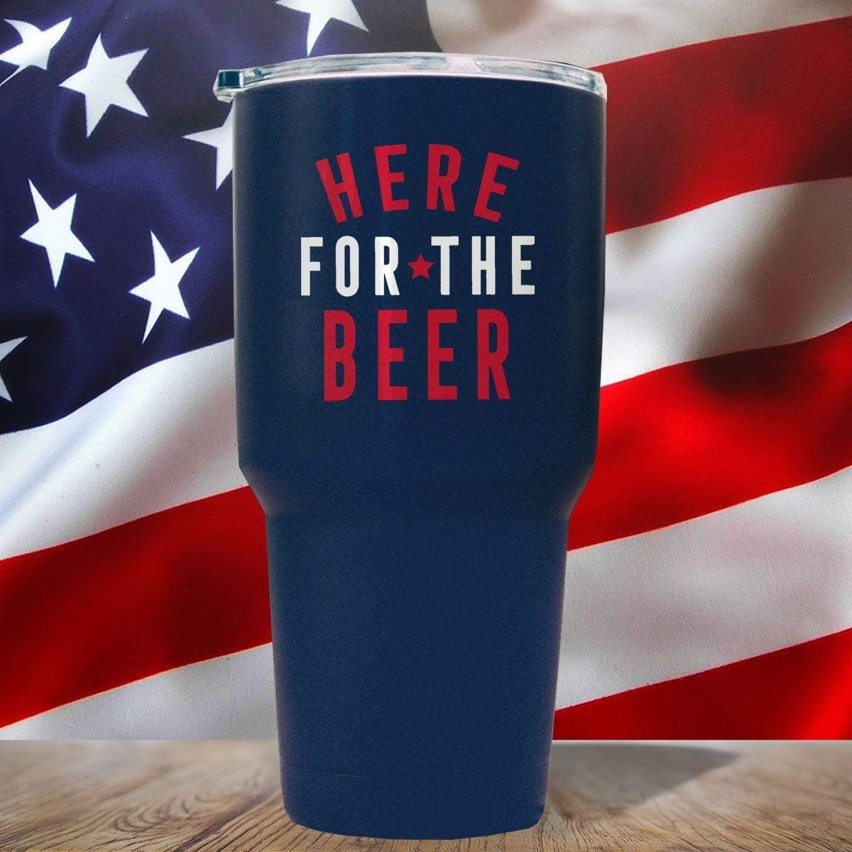 HERE FOR THE BEER 3D UV Tumbler