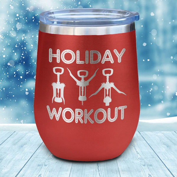 Holiday Workout Christmas Wine Glass