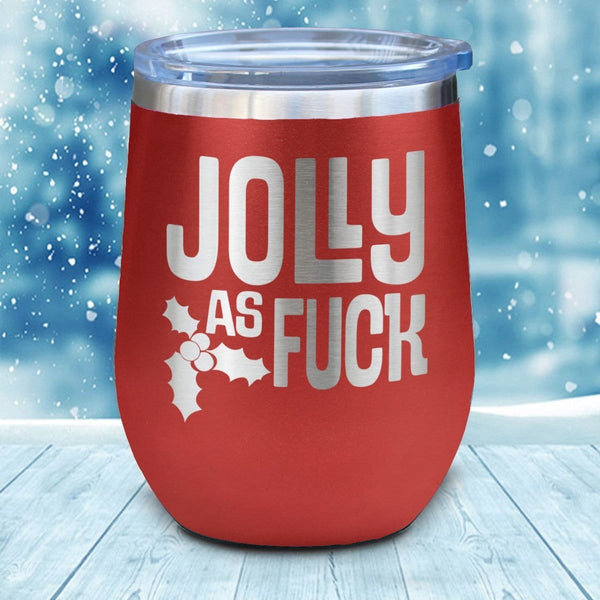 Jolly As Fuck Christmas Wine Glass