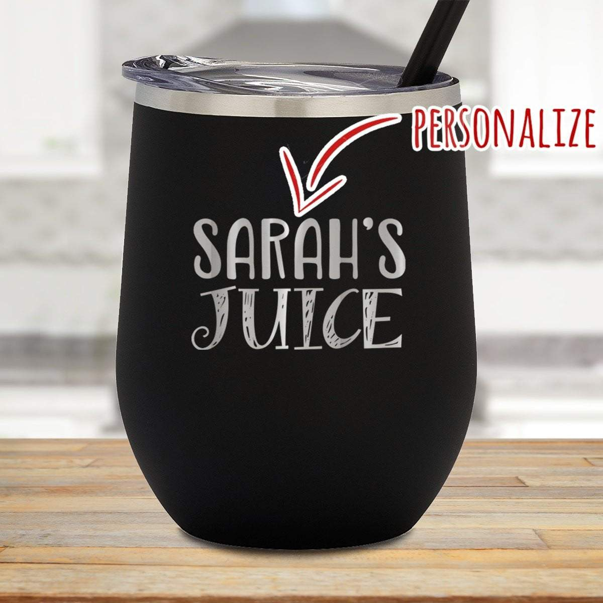 Kids Juice Personalized Stemless Juice Cup