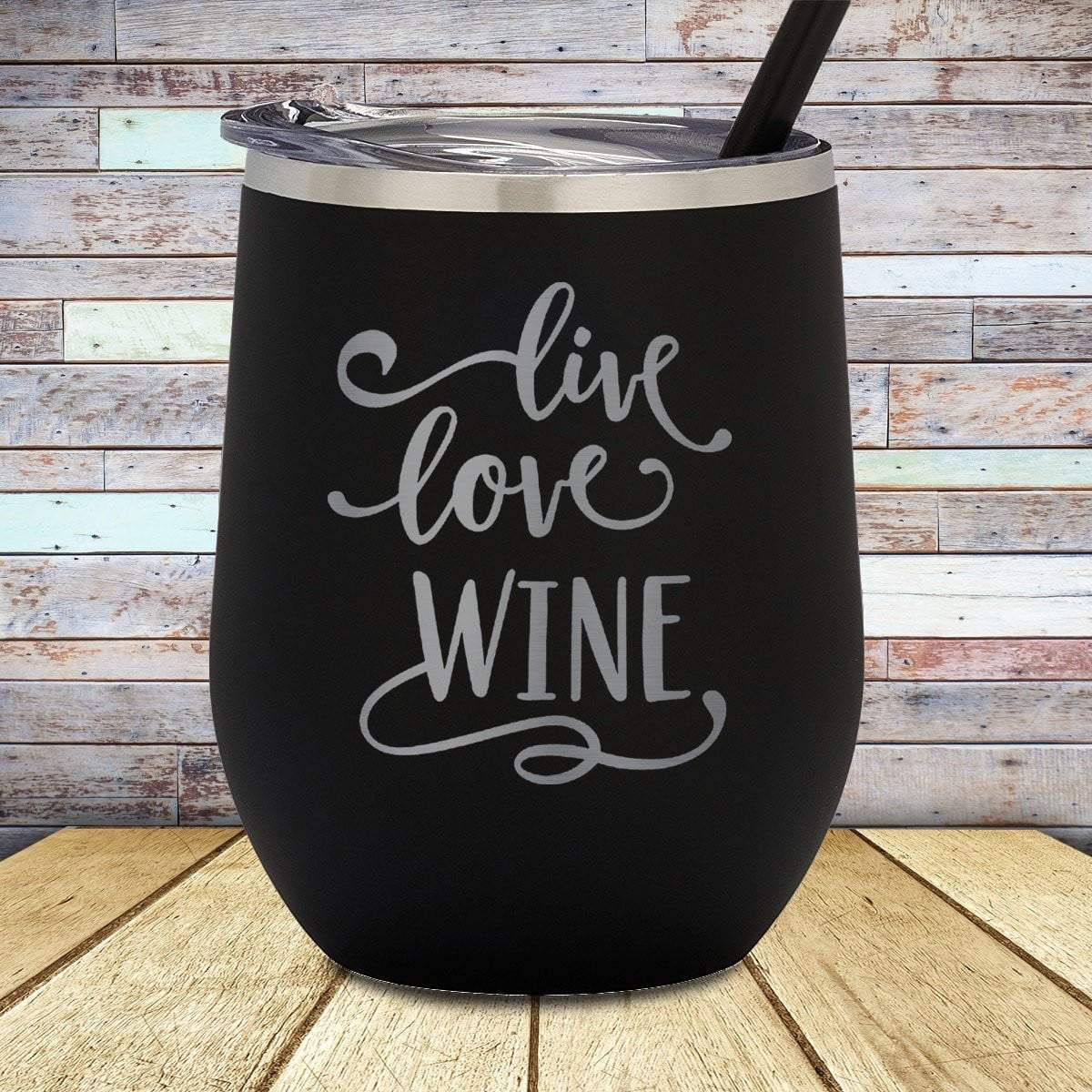 Live Love Wine Stemless Wine Cup
