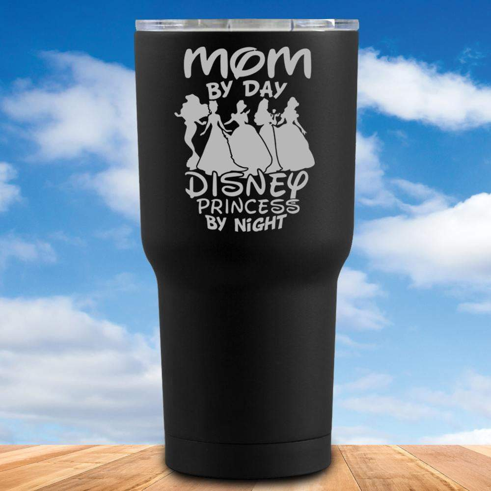 Mom By Day Princess By Night Tumbler