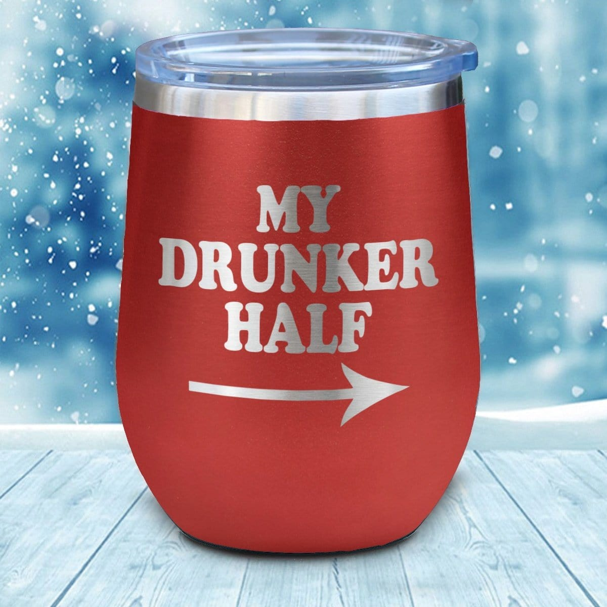 My Drunker Half 2 Christmas Wine Glass