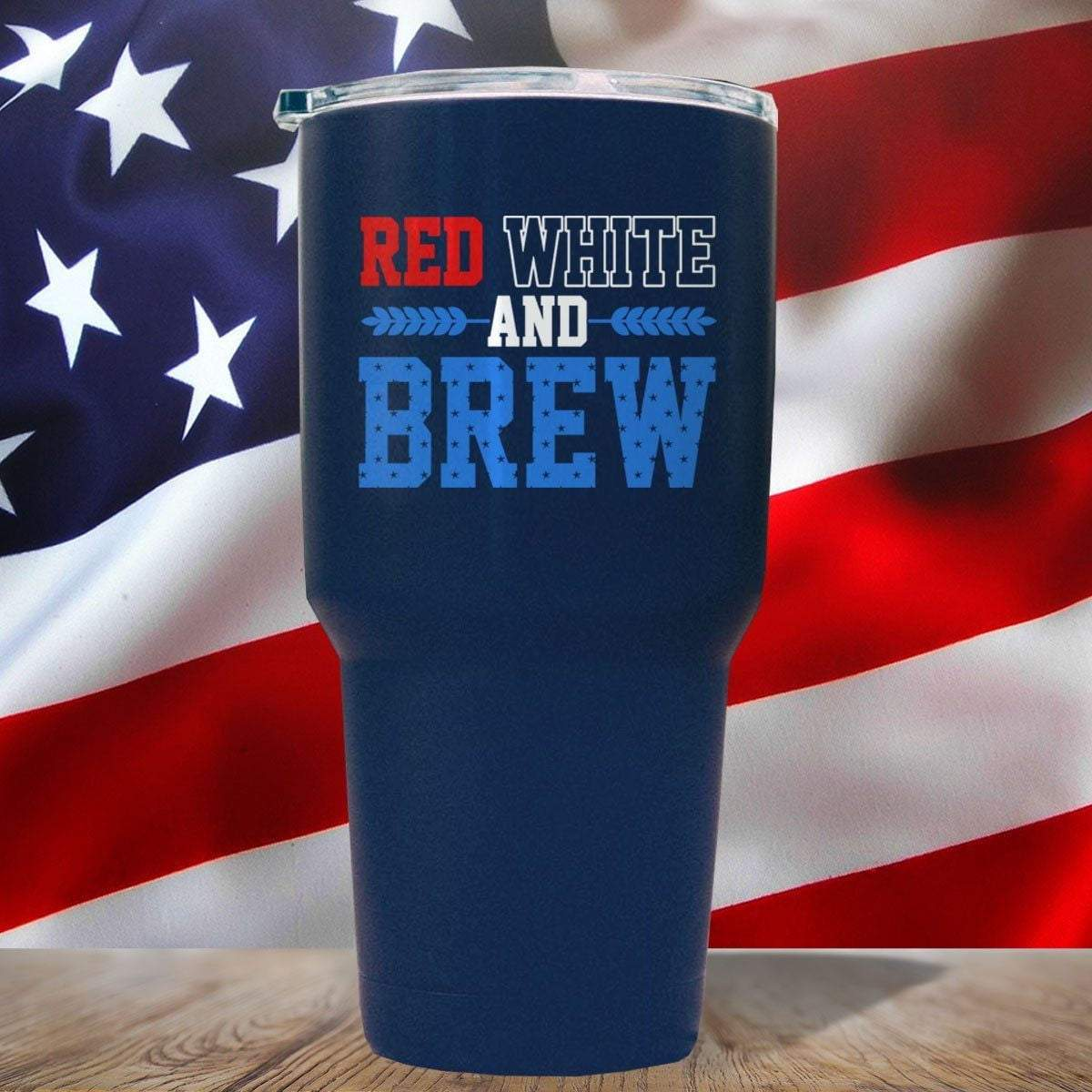 Red White And Brew 3D UV Tumbler