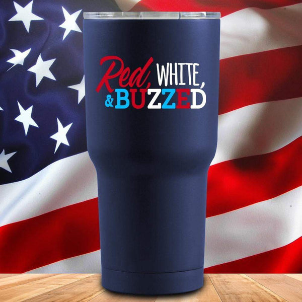 Red White And Buzzed 3D UV Tumbler