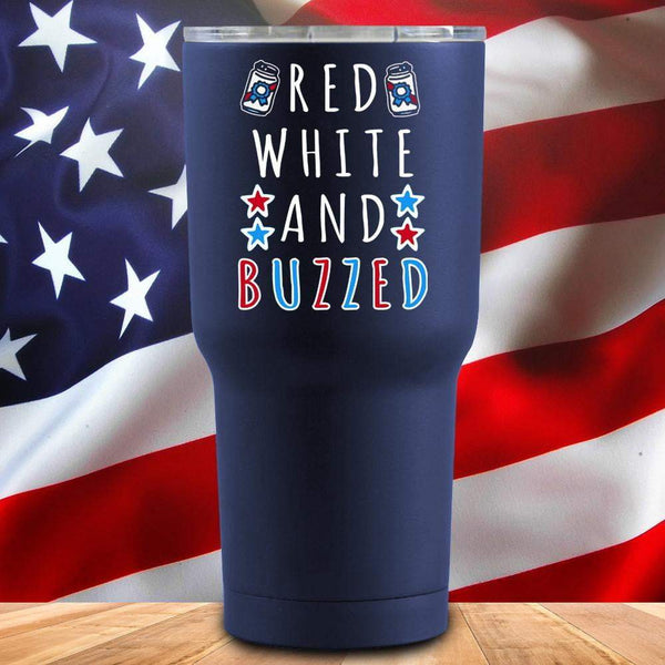 Red White And Buzzed Stars 3D UV Tumbler