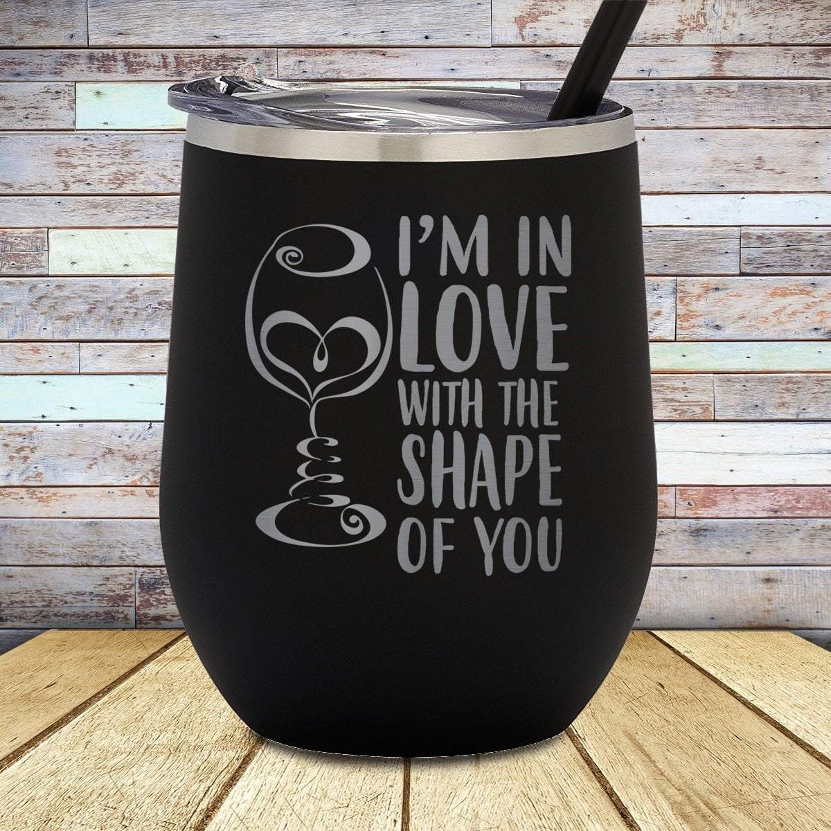 Shape Of You Stemless Wine Cup