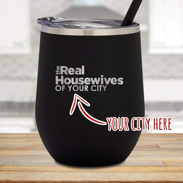 The Real Housewives Personalized Stemless Wine Glass