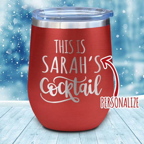 This Is Cocktail Personalized Christmas Wine Glass