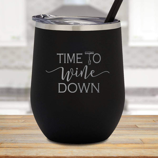 Time To Wine Stemless Wine Cup