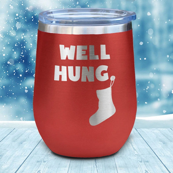 Well Hung Christmas Wine Glass