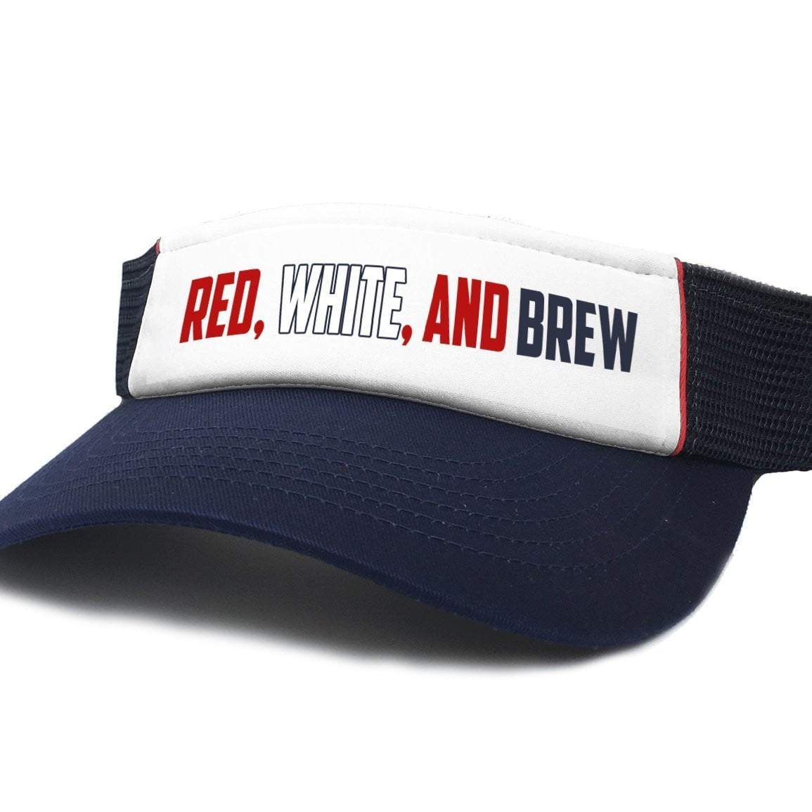 Red White And Brew Patriotic Visor