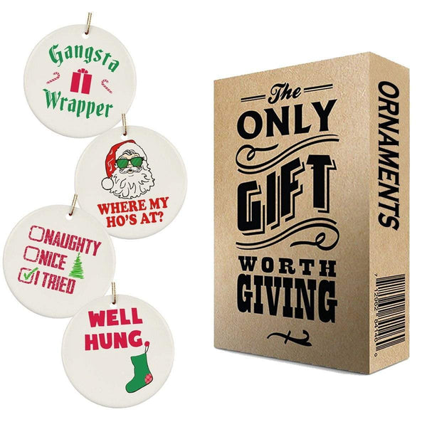 World's Funniest Christmas Ornaments 4 Pack
