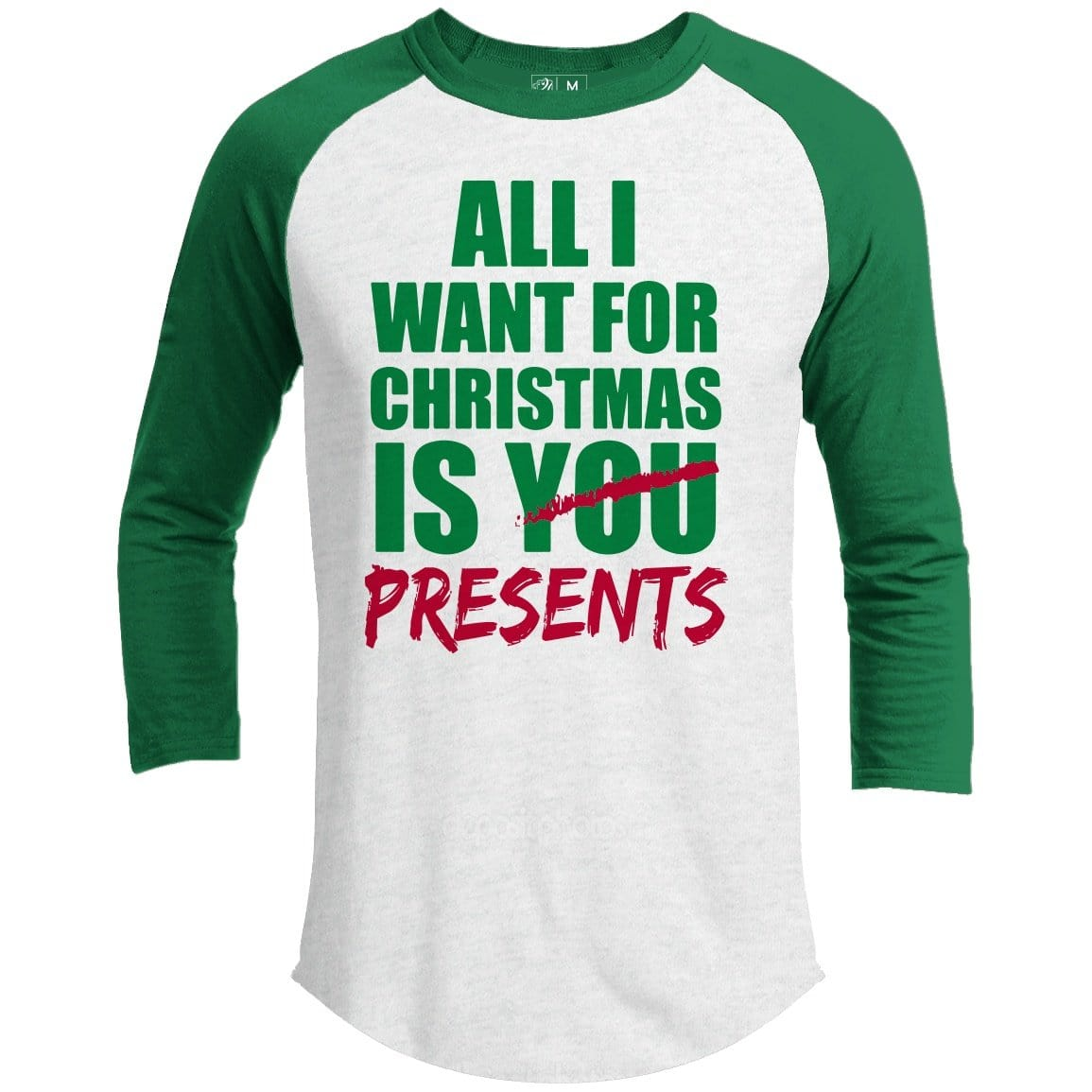 All I Want Food Premium Youth Christmas Raglan