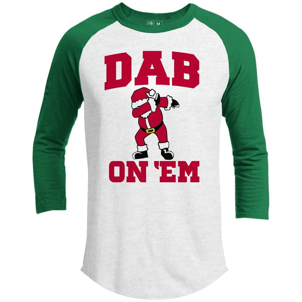 DAB ON EM Premium Youth Christmas Raglan