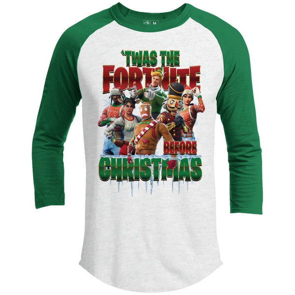 FORT-NITE TWAS THE FORTNITE Premium Youth Christmas Raglan