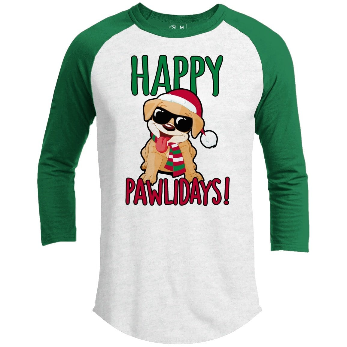Happy Pawlidays Premium Youth Christmas Raglan