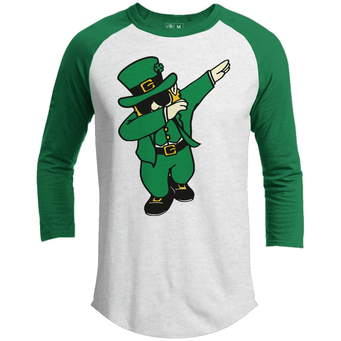 Leprechaun Dab Premium Youth St. Patrick's Day Raglan