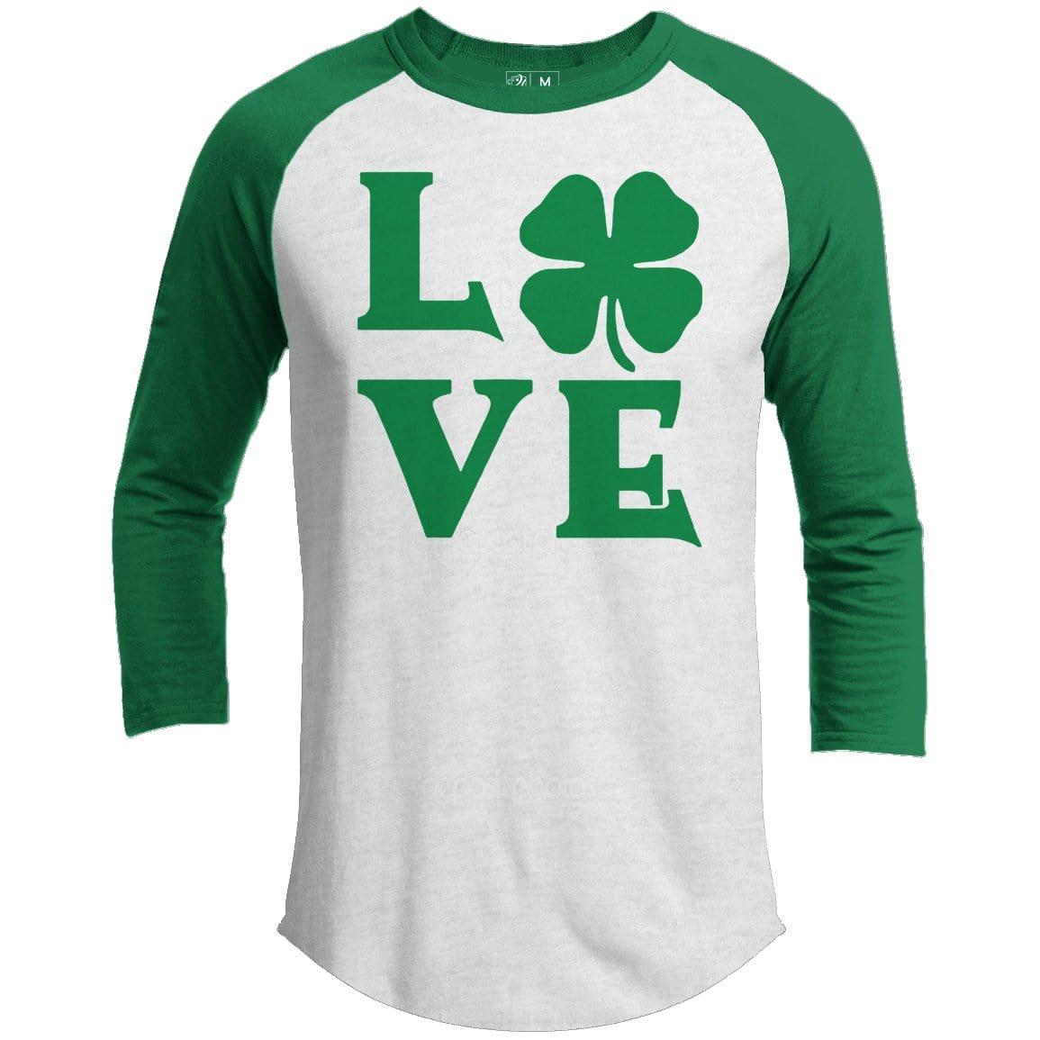 Love Clover Premium Youth St. Patrick's Day Raglan
