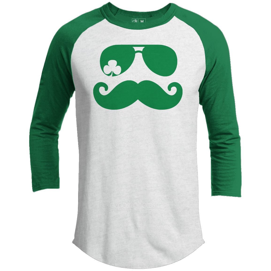 Mustache Shades Premium Youth St. Patrick's Day Raglan