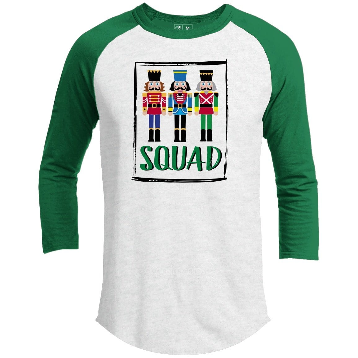 Nutcracker Squad Premium Youth Christmas Raglan