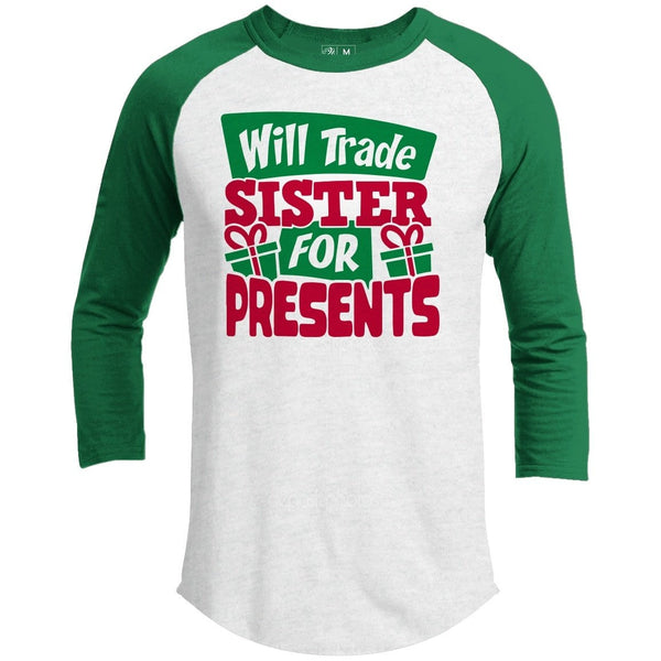 Will Trade Sister Premium Youth Christmas Raglan