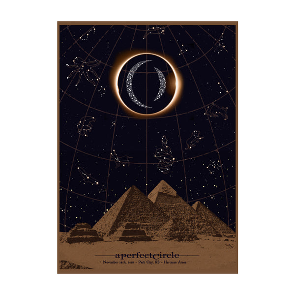 Signed Pyramid Eclipse Kansas Poster
