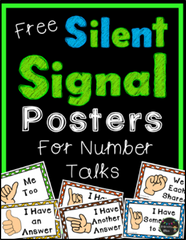 Number Talk Hand Signals - Free Poster